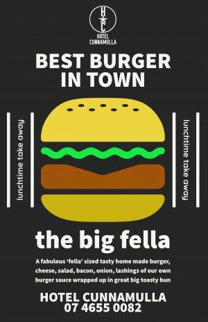 Cunnamulla Cafe Burger Take Away Food